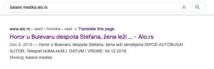 brend i adresa na Google