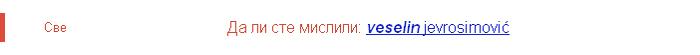 da li ste mislili Veselin Jevrosimović