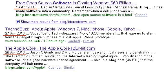 datum u google serp