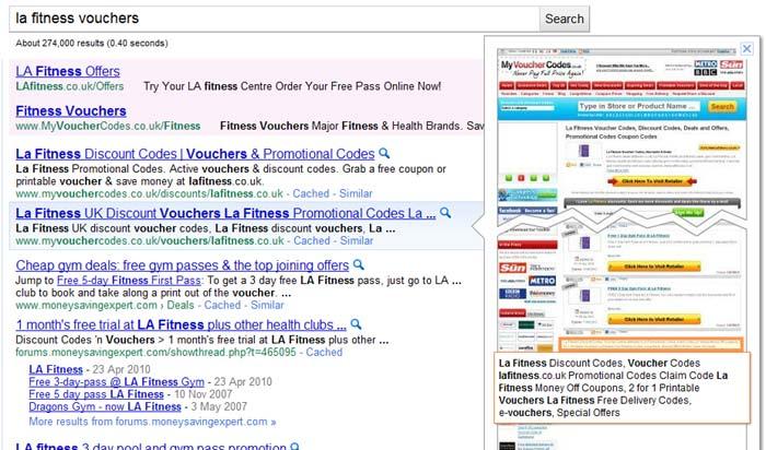 google sajt preview