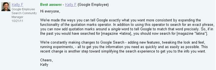 Google plus operator potvrda prelaska na navodnike