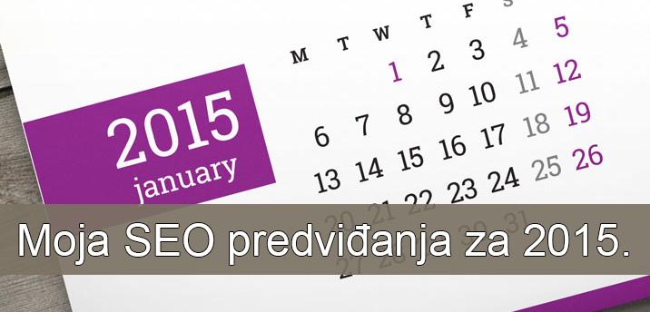 SEO predvidjanja za 2015