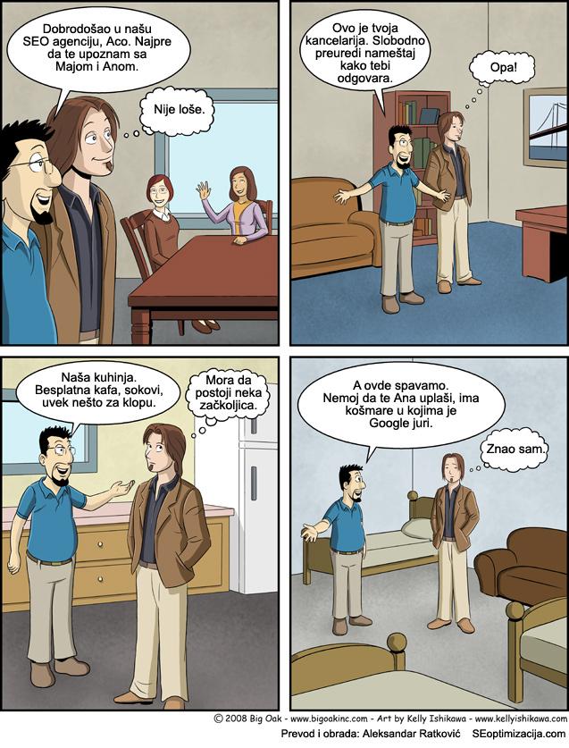 strip o SEO radnom vremenu