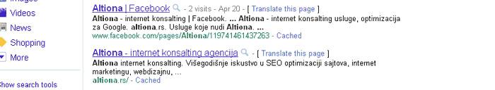 title url i opis stari raspored u Google rezultatima