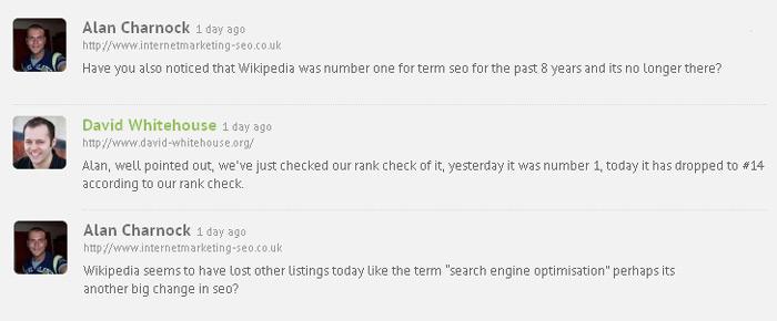 Venice SEO izmene i Wikipedia